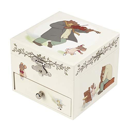 Trousselier S20016 Carillon Cubo per Gioielli Motivo Ernest e Celestine