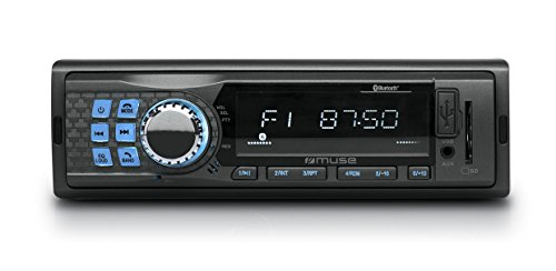Muse M-199 BT Kfz-Radio mit Bluetooth für Laptop Streaming, Tablet/Smartphone, Freisprecheinrichtung, LCD-Display inkl. Backlight, RDS, MP3, USB, SD/MMC, AUX-In, 4 x 40 Watt, ID3 Tag