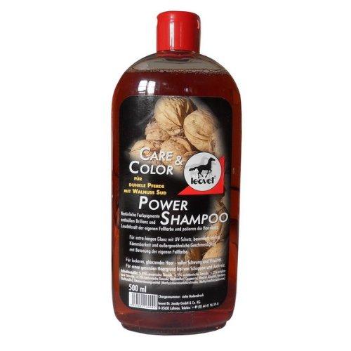 Leovet Power Shampoo Walnuss für dunkle Pferde, 500 ml (21,- €/L)