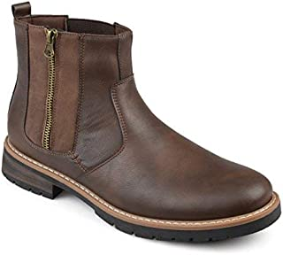 Vance Co. Mens Faux Leather Casual Chelsea Boots