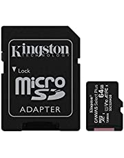 Kingston Canvas Select Plus 64GB microSD Card with Adapter
