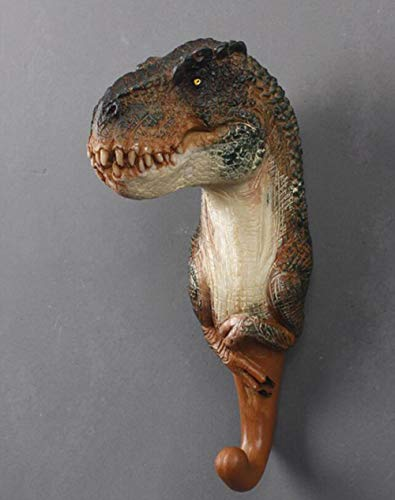 SYART Amerikaanse decoratieve haak Jurassic wereld creatieve hars dier model dinosaurus jas haak triceratops muur opknoping haak