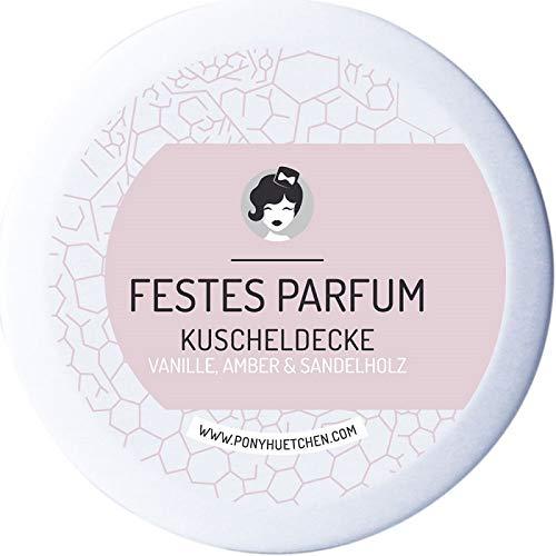 PonyHütchen Naturkosmetik festes Parfüm Kuscheldecke - Cremeparfüm ohne ALKOHOL - allergenfrei - 12 ml - handgemacht - vegan - BIO