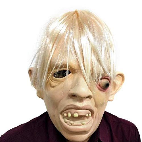 LLWGNZM Mascara-Motosierra Masacre Jigsaw Puppet Masks Latex Creepy máscara Completa Scary Prop Unisex Party Cosplay Suministros, 4