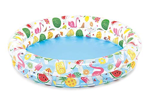 Intex Inflatable Stars Kiddie 2 Ring Circles Swimming Pool (48' X 10') [Assorted Styles]