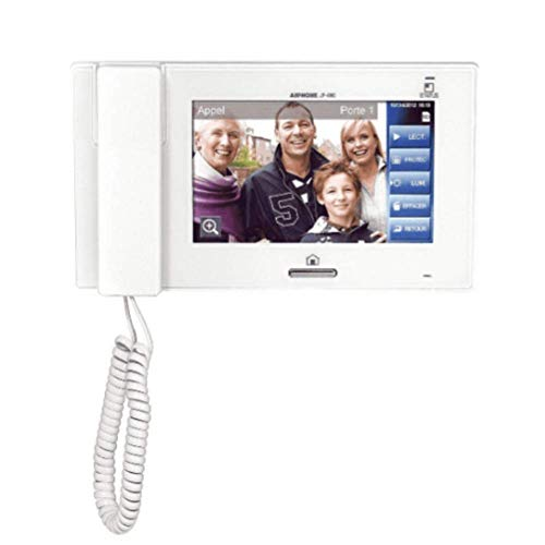 Aiphone JP-4HD 7 Inch Handset/Hands-Free Sub Master Station with Touchscreen LCD Color Sub Master Station
