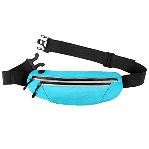 wetry Riñonera Deportiva Running Cartera para la Cintura Impermeable Cinturón para Correr para Fitness Viaje o Deportes al Aire Libre Azul