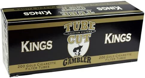 Gambler Tube Cut Gold Max 85% OFF Cheap mail order specialty store Light King Size RYO Cigarette Tubes 200ct