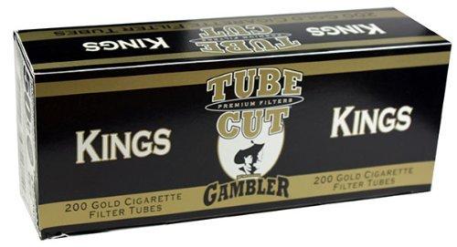 Gambler Tube Cut Gold Light King Size RYO Cigarette Tubes 200ct Box (5 Boxes)