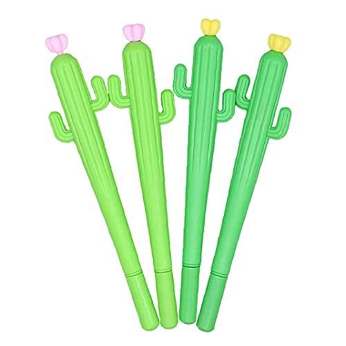 Cactus Gel Bols Linda escritura Rollerball Pens Oficina Escuela Papelería para el regalo 4pcs Varios usos
