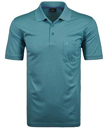Ragman Herren Kurzarm Softknit Poloshirt , Aqua Grün , XL