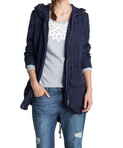 ESPRIT Damen Parka 024EE1G007 Jacke, Blau (Cinder Blue), (Herstellergröße: 40)