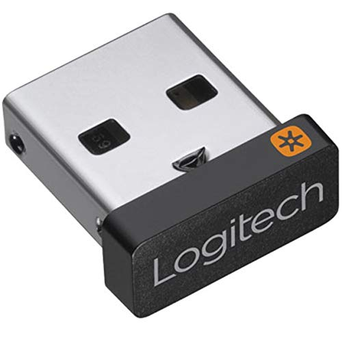 Logitech USB Unifying Receiver, 2.4 GHz Wireless Technology, USB Plug Compatible with all Logitech Unifying Devices like Wireless Mouse and Keyboard, PC / Mac / Laptop - Black