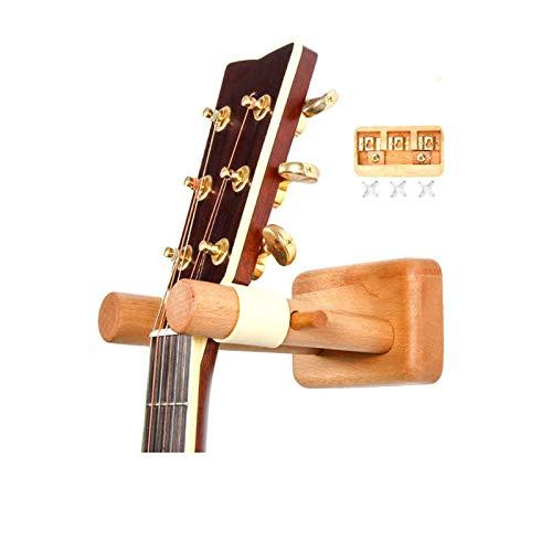 YiGanQiang Soporte de Guitarra Soporte de Pared Socket Solid Wood Moder Soporte de Gancho Sostiene un Instrumento Seguro para la acústica de Ukelele Guitarra clásica (Size : A)