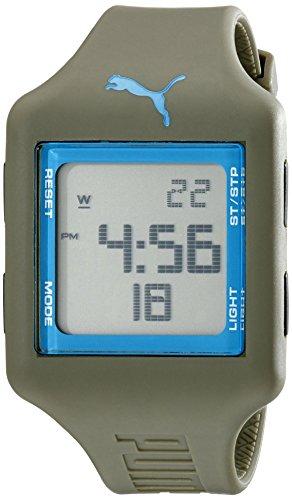 PUMA Unisex-Armbanduhr PU910791015, Analog, Quarz, Grün