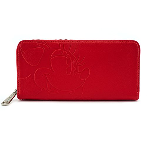 Loungefly Disney - Cartera tarjetero Rojo Minnie Mouse