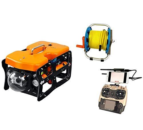 Drone subacuático 110 ROV 2.4G cámara de fotografía inalámbrica tipo robot 4. Versión de cable y FPV. (versión cableada, brazo robótico) SLONGS (color: versión inalámbrica)