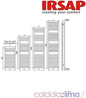 Termosifoni Irsap Geo radiatore scalda-salviette bianco Geo 818x450mm ECS04501
