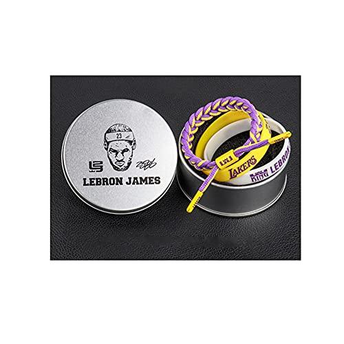 YZDMC Exquisito Lakers Pulsera de 3 Piezas Baloncesto Estrella de Baloncesto Pulsera Deportiva Pulsera Deportiva TREND-35422