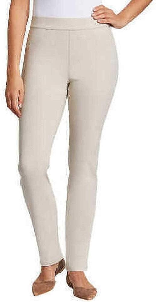 Gloria Vanderbilt Women's Zoey Pull On Straight Leg Pants (Stonewood, XX-Large)