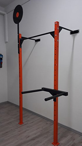 Rig-Rack-Squat Barre pour Traction-Muscle Up & Pull Up-Fitness & Body Building Profondeur 120 cm