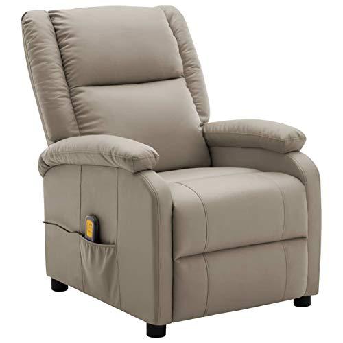 Tidyard Elektrische Massagesessel Liegesessel Liegestuhl 71 x 98 x 95 cm Mit 8-Punkt-Vibrationsmassage,Fernsehsessel Sessel Relaxsessel Liegefunktion,Heizung,Verstellbare Rückenlehne,Kopf-Fußstütze