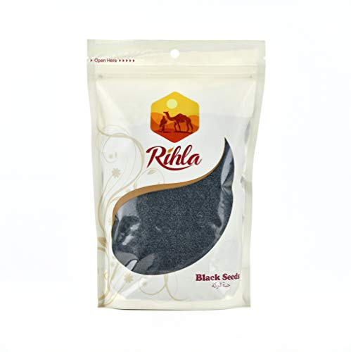 Premium Black Seeds (Nigella Sativa) - Habbatus sauda - Rihla Superfoods - 1.1 Lb (500g)
