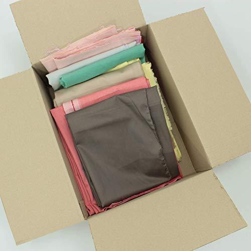 kawenSTOFFE Stoffreste 2kg Stoffpaket Uni Tuch Baumwollstoffe Diverse einfarbig bunt