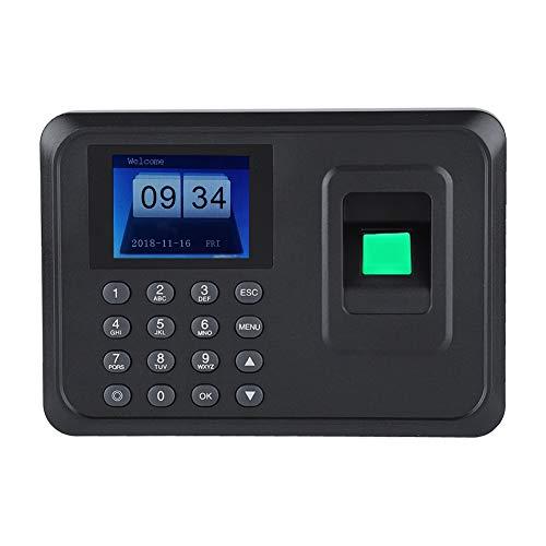 Máquina Biométrica de Huellas Dactilares de Control de Accesos con 2,4 in Pantalla TFT LCD Que Apunta sin Asistencia del Software de Empleados para Oficina(Negro)