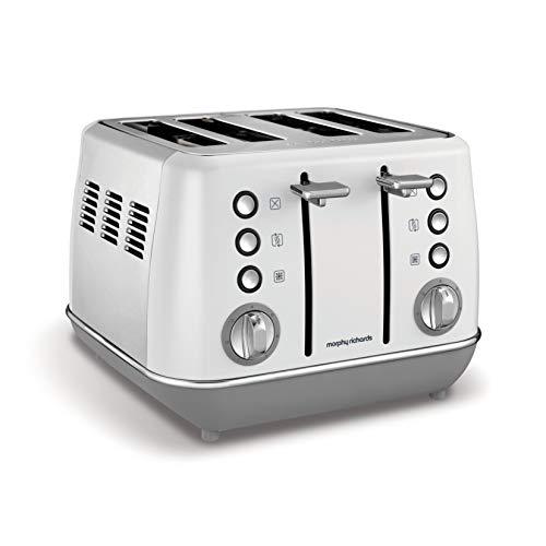 Morphy Richards Evoke 4 Slice Toaster 240109 White Four Slice Toaster White Toaster