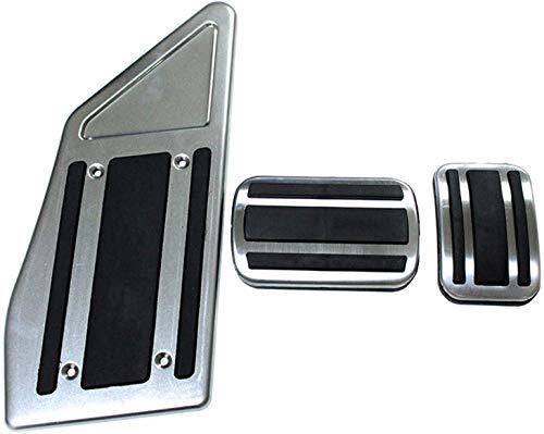Auto Pedale Abdeckung Aluminiumlegierung Gummi Pedal, FüR Peugeot 4008 5008/GT 2017 2018 2019,Brems Pedalkappen...