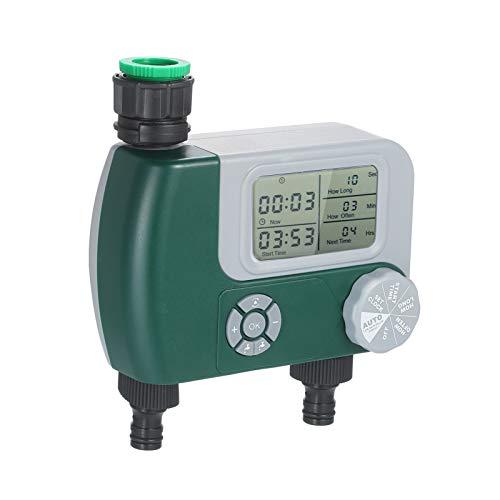 Manguera programable digital temporizador de grifo con pilas del controlador de riego Sistema de riego automático de riego con la salida 2 (Color : EU)
