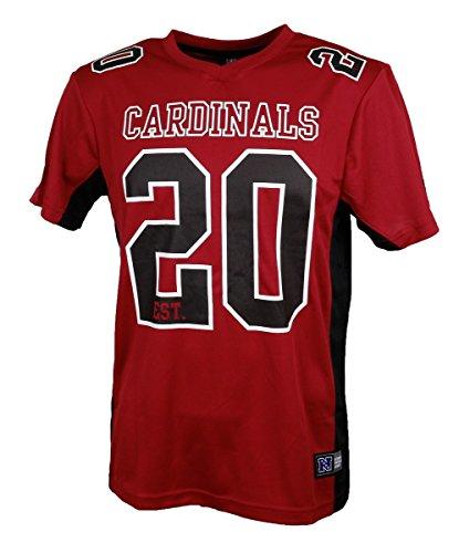 Fanatics Arizona Cardinals T Shirt NFL Fanshirt Jersey American Football Rot - L