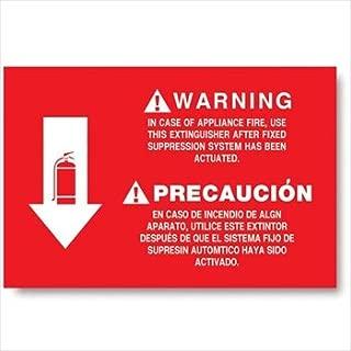 Vinyl Self-adhesive Class K Fire Extinguisher Arrow Sign - 12
