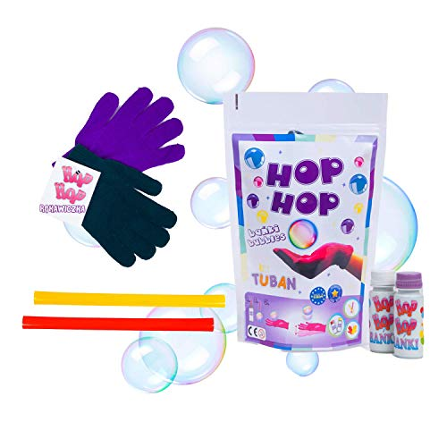 Tuban Set Pompas de Jabón Hop Hop - Trucos de Magia con Pompas de Jabón para Niños - Burbujas de Jabón Niños - Juegos de Magia para Niños - Pomperos para Niños - Magia Niños en Casa