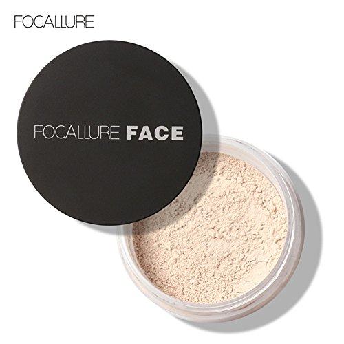 3 Types Focallure Nouveau Visage Huile Contrôle Anti-sueur Maquillage Longue Durée Lâche Poudre Cosmétique(1#)