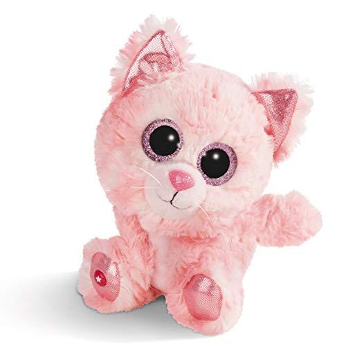 NICI Peluche GLUBSCHIS Gato Dreamie, con Ojos Grandes y Brillantes, 15 cm, Color: Rosa, 45554, Multicolor