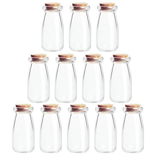 BELLE VOUS Frascos Cristal Tapones de Corcho (Pack de...