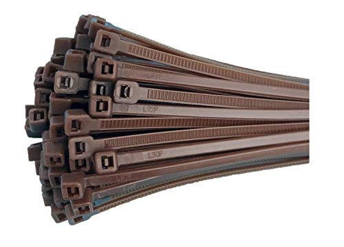 Fix&Easy Kabelbinder 2,5x200mm braun 50 Stück Set für Weidezaunmatte Weidengeflecht Zaunfeld