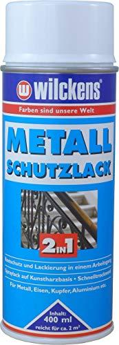 Wilckens Metall-Schutzlack 2in1 Weiß 400 ml Lackspray Schutzspray Korrosionsspray Spray