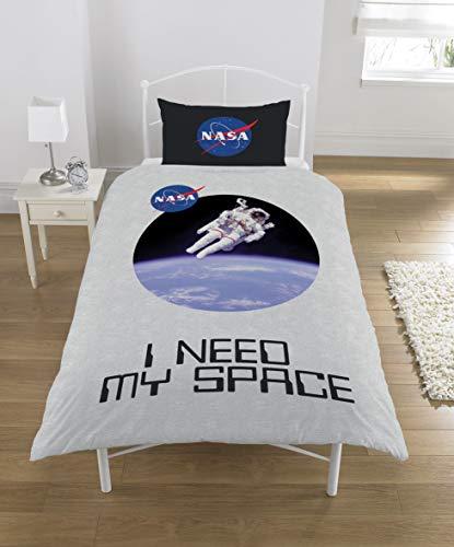 NASA Bettwäsche-Set, Polycotton, Mehrfarbig, Einzelbett
