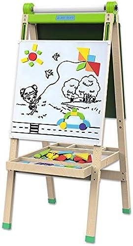 Kinder-Rei ett H erne doppelseitige Schwarzeißs-Brett-Tabellen-Staffelei der Kinder mit der Uhr, die Spaß-p gogisches Lernen vort cht, um Spiele zu spielen spielt Kindergarten und S lingskl