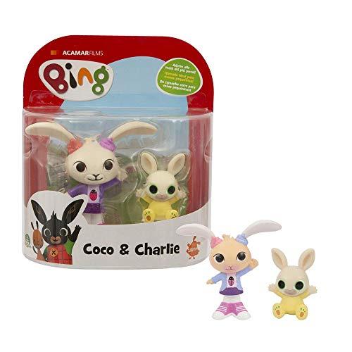 Giochi Preziosi- Bing Coppia di Personaggi, Coco e Charlie, Multicolore, BNG10E00