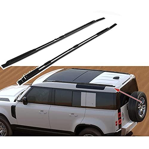SFSGH Barras portaequipajes para Barras de Techo para Coche, portaequipajes Superiores, para Land Rover Defender 2020 2021/110 rieles para Equipaje, sin Necesidad de perforar, Negro