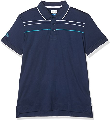 Callaway Boys Piped W/T Camiseta de Golf, Niños, Azul (Blue), M