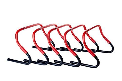 Pure 2Improve Sprint Hürden-Set, rot/schwarz, 38cmx25cm, 5Stk.