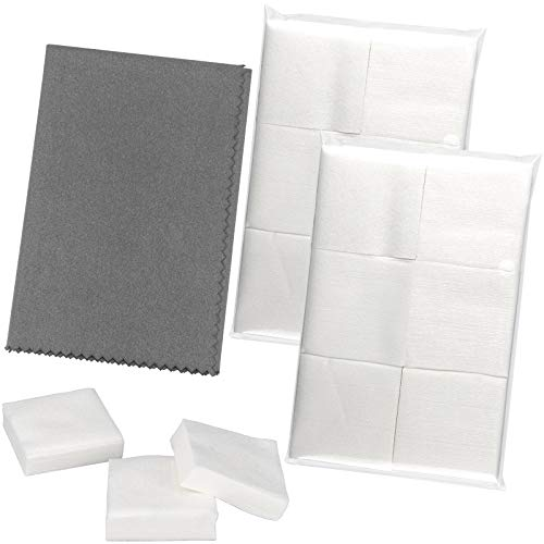 Gun Cleaning Patches 600PCS - Silicone Gun Cleaning Cloth Set, 2''×2'' Cotton Gun Cleaning Patches - 12'x12' Microfiber Gray Towel Polishing Rag Cleaner Suppliers - for All Gun Cleaning Protection…