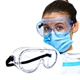 Medical Safety Goggles, Anti-Fog, Eye Protection Goggles, Clear, Splash Proof, Lab, Medical Googles, Nurse Goggles, Science Goggles for Students, Biology, Chemistry, Adults