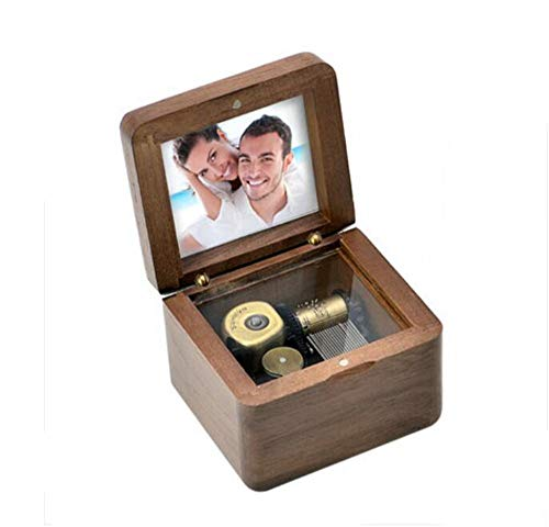 A2MYL パーソナライズ 木製オルゴール カスタム写真を追加 家族や子供へのギフトに 誕生日プレゼント