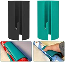 Wrapping Paper Cutter, Sliding Paper Roll Cutter,Christmas Wrapping Paper Cutting Tool,Blue+Black (2 Pack)